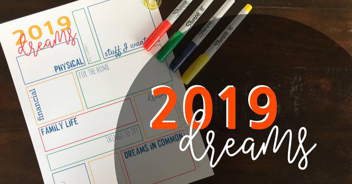 2019 Dream Sheet