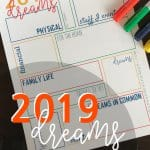 Write your dreams on the 2019 Dream Sheet. Next year, take a look at your Dream Sheet and be amazed. Amazed that you actually DID accomplish stuff and realize, the stuff you didn't, might not be too important after all. Dream Sheet | Dream | 2019 | 2019 Printable | 2019 Inspiration | Printables | #2019 #printables #goal #SARD