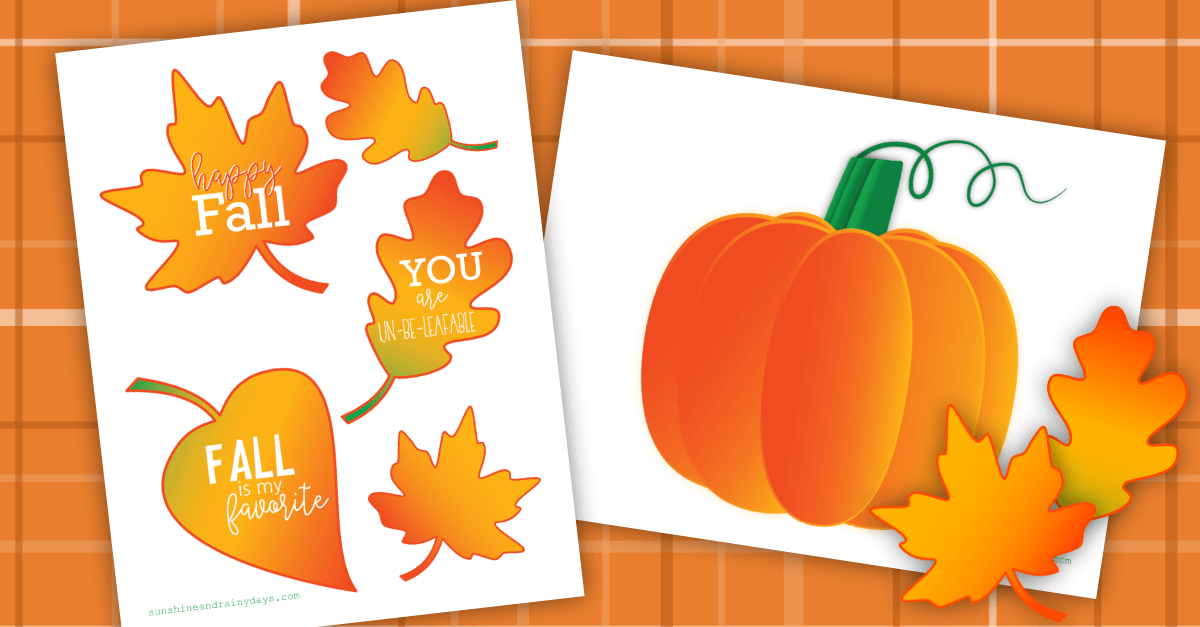 Fall Box Printables
