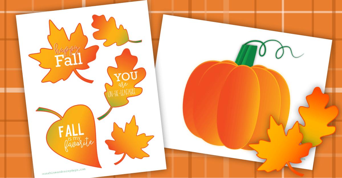 Fall Box Printables