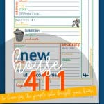 New House 411 Printable