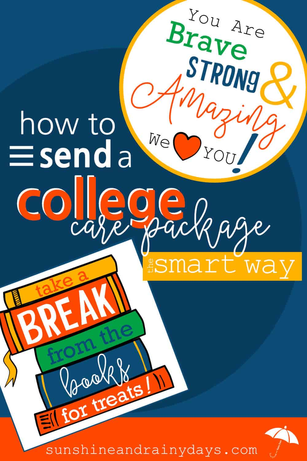 Learn how to create a College Care Package the SMART way with these tips and tricks! College Care Package | College Care Package Ideas | College Care Package For Guys | College Care Package For Girls | College Care Package DIY | College Care Package Printables | #college #printables #SARD