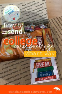 If you don't want to sit around and cry over your empty nest, DO SOMETHING! Create an awesome College Care Package. That'll keep you busy and excited for your student! College Care Package   College Care Package Ideas   College Care Package For Guys   College Care Package For Girls   College Care Package DIY   College Care Package Printables   #college #printables #SARD