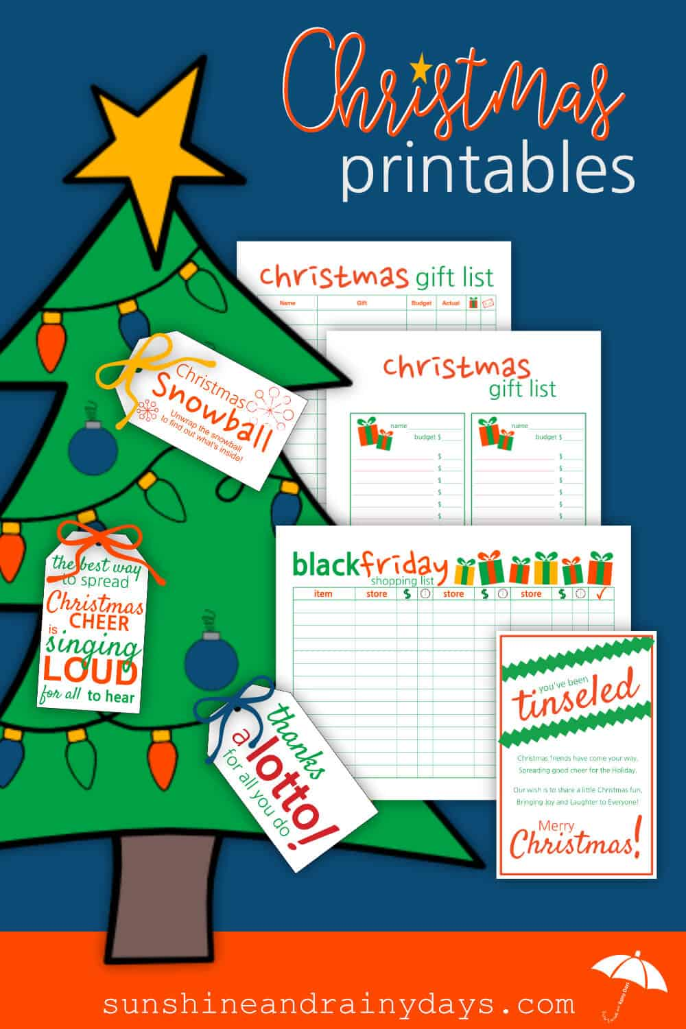 Christmas Printables are here to act as your personal assistant to relieve your mind of all the to do's so you can enjoy driving around local neighborhoods to check out the lights!