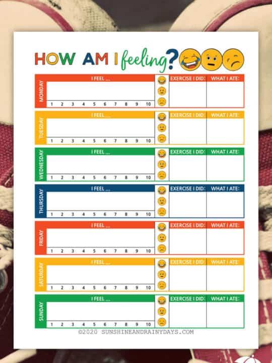 How Am I Feeling Worksheet