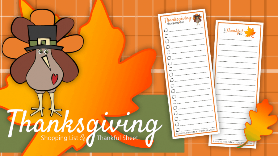 Thanksgiving Shopping List Printable – Write It Down!