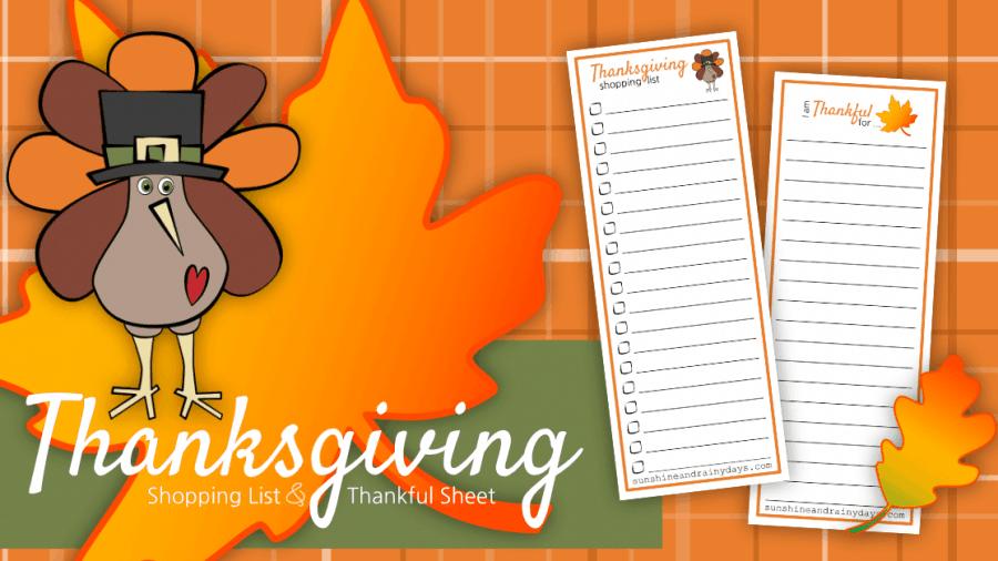 Thanksgiving Shopping List Printable – Write It Down!