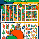 Christmas Advent Calendar Numbers
