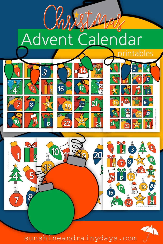Christmas Advent Calendar Numbers