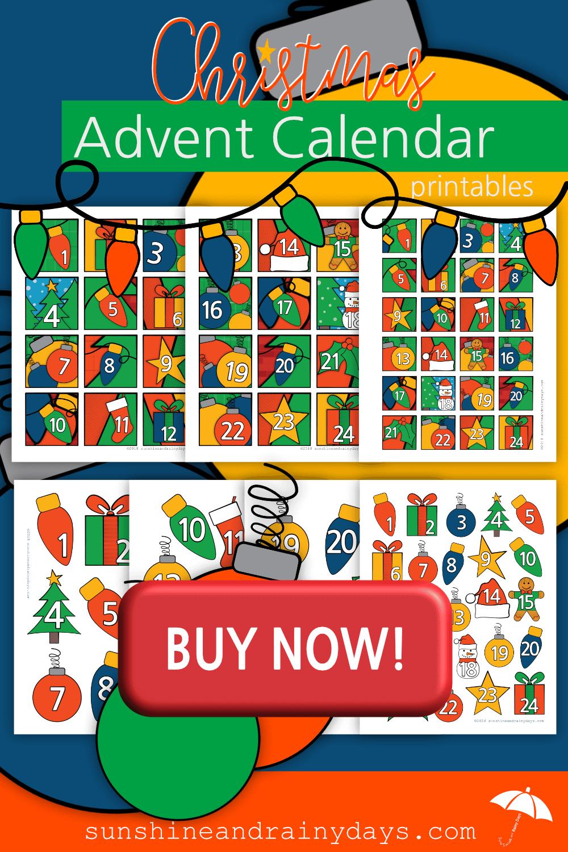 Christmas Advent Calendar Printables