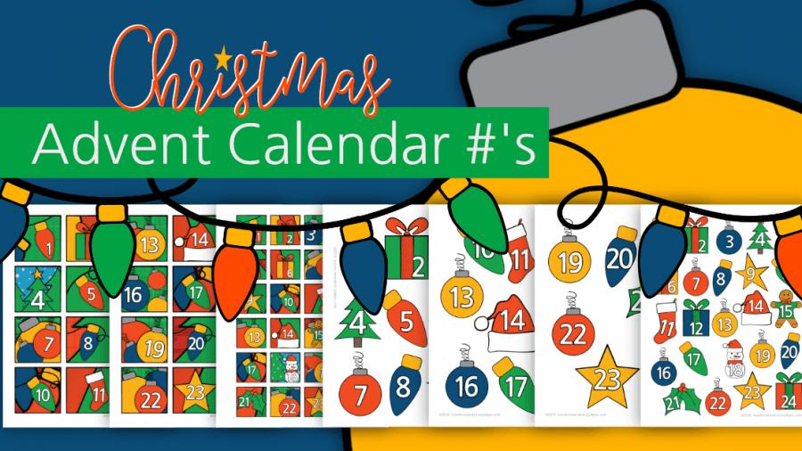 Christmas Advent Calendar #'s
