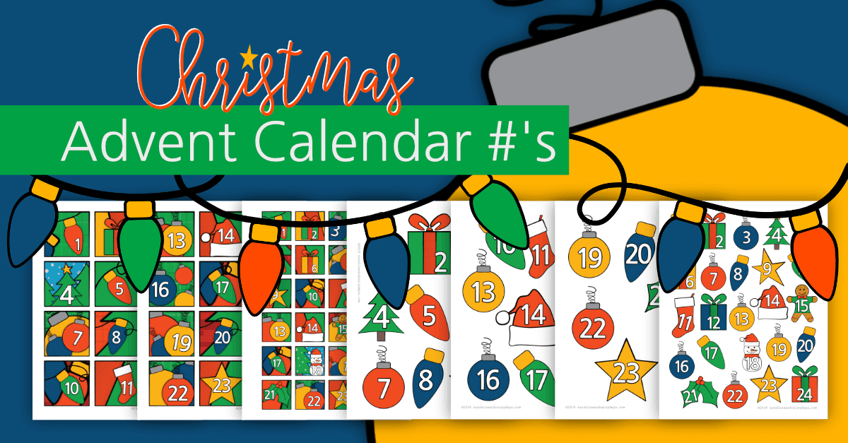 Christmas Advent Calendar #'s