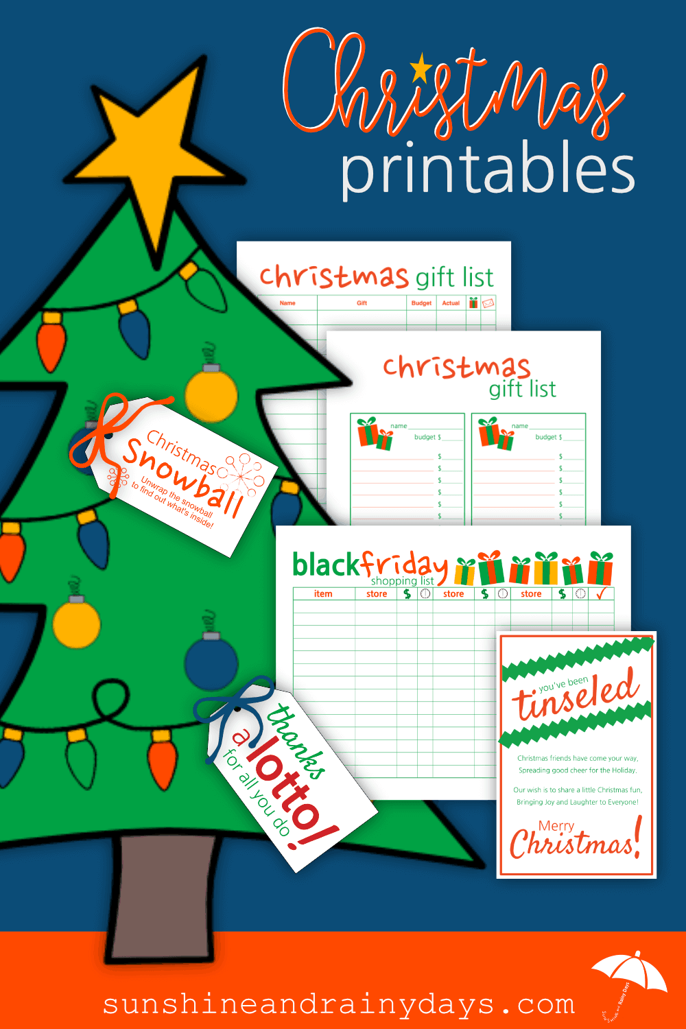 Christmas Printables are here to act as your personal assistant to relieve your mind of all the to do's so you can enjoy driving around local neighborhoods to check out the lights! Christmas Printables | #printables #SARD