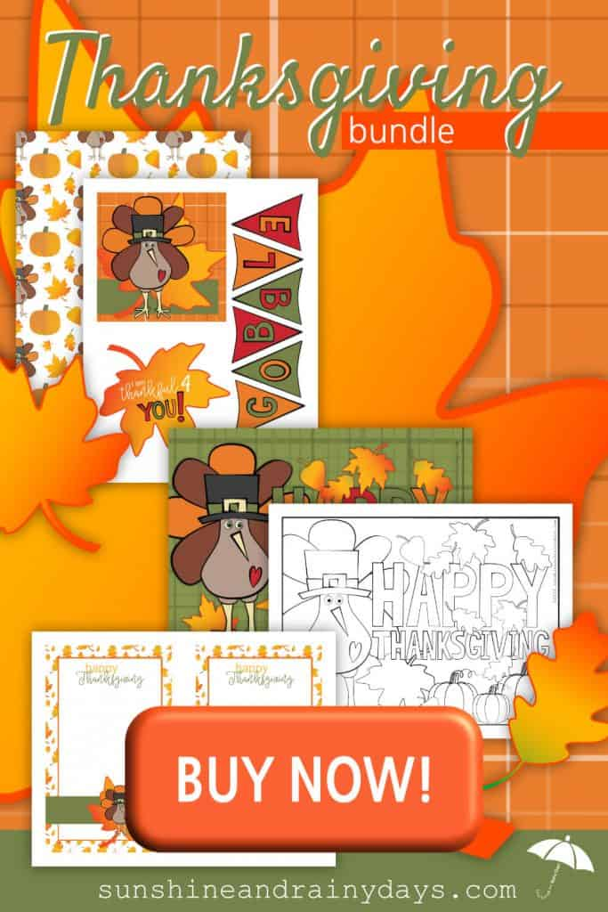 Thanksgiving Care Package Printables