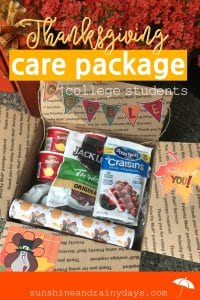 Whether your college student will be home for Thanksgiving or not, they will certainly appreciate a FUN Thanksgiving Care Package to kick off the Holiday Season! We're ready to share Printables and Ideas for a Thanksgiving Care Package! Thanksgiving Care Package College | Thanksgiving Care Package Ideas | College Thanksgiving Care Package | Thanksgiving Box Care Packages | #Thanksgiving #CollegeCarePackage #SARD