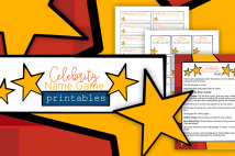 Celebrity Name Game Printables For Teen Parties