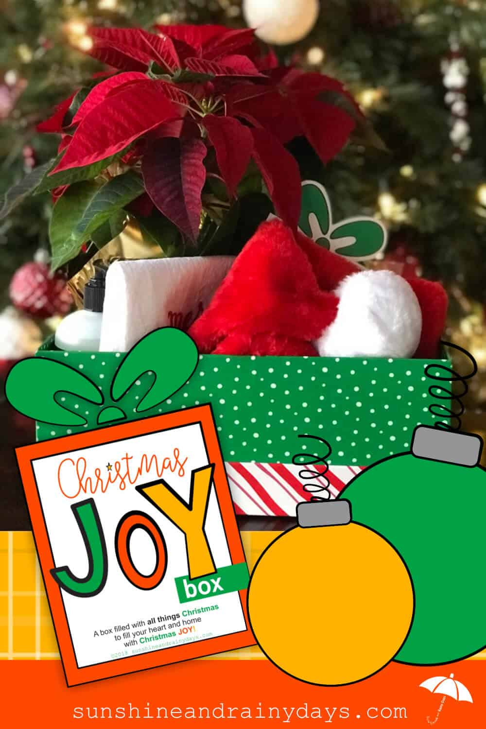 A box filled with all things Christmas to fill your recipient's heart and home with Christmas Joy! Christmas Joy | Christmas Printables | #ChristmasPrintables #ChristmasGiftIdeas #SARD