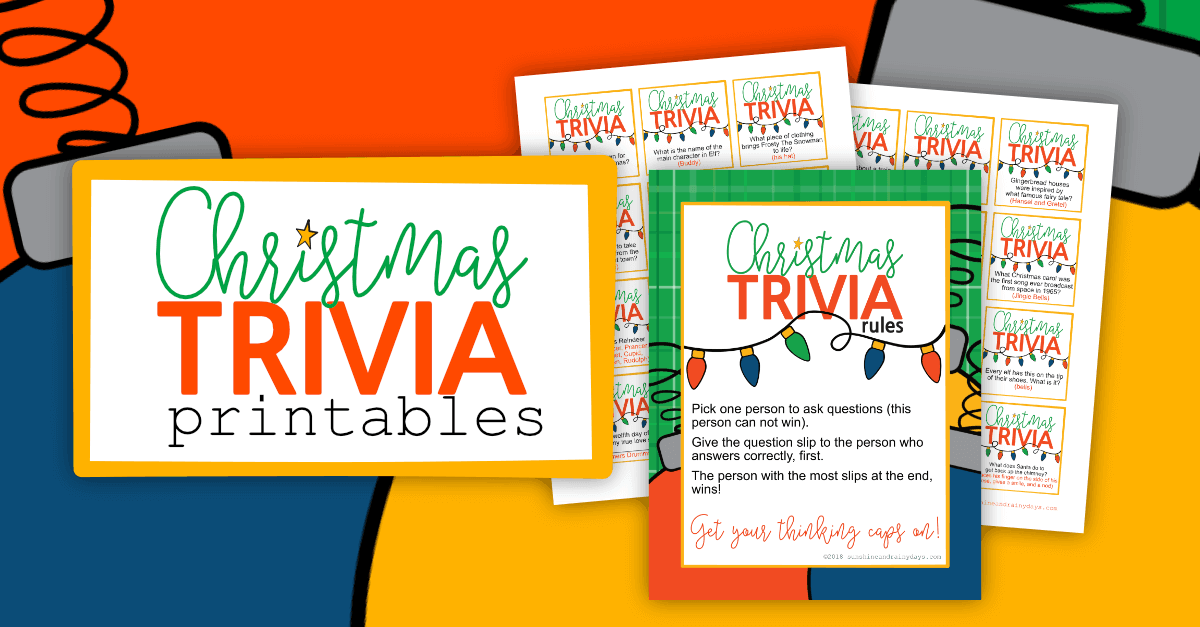 picture about Christmas Trivia Printable identify Xmas Printables For A Time Of Contentment! -