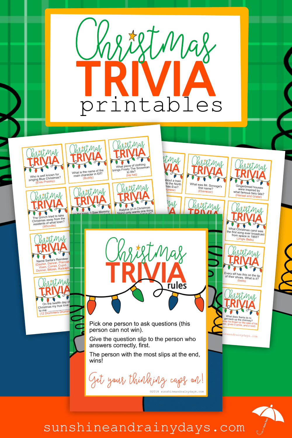 Are you hosting Christmas this year and want to bring a bit of excitement to the crowd? The Christmas Trivia Game fits the bill! Even Mr. Grumpy Pants will want to get involved with this one so he can share his vast knowledge! Christmas Trivia Games | Christmas Trivia Printable | Christmas Trivia Games For Family | #ChristmasGames #ChristmasPrintables #SARD