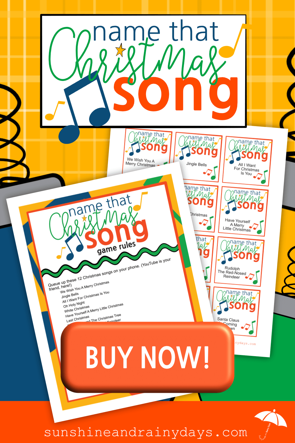 We've played Name That Song at many parties with teenagers and it seems to be a hit! With a Christmas Party coming up, we decided it was time to Christmasfy the game and dubbed it, Name That Christmas Song! Name That Song Christmas Game   Name That Christmas Song Game   Christmas Games   Christmas Printables   #ChristmasGames #ChristmasPrintables #SARD