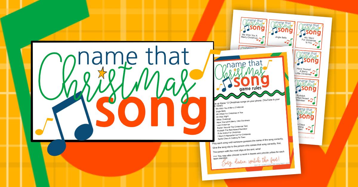 Name That Song Christmas Game