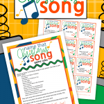 We've played Name That Song at many parties with teenagers and it seems to be a hit! With a Christmas Party coming up, we decided it was time to Christmasfy the game and dubbed it, Name That Christmas Song! Name That Song Christmas Game | Name That Christmas Song Game | Christmas Games | Christmas Printables | #ChristmasGames #ChristmasPrintables #SARD