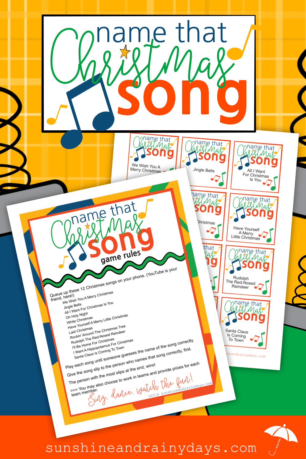 Name That Christmas Song Game Printables