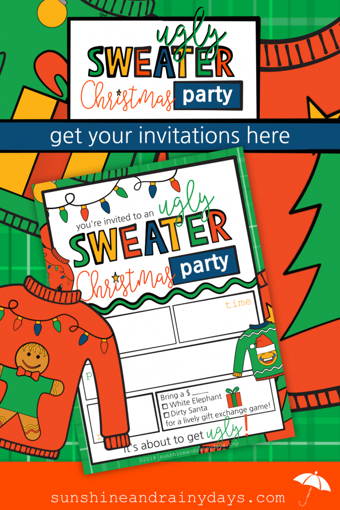 Are you ready to party? How about a party that consists of your friends wearing their prized Christmas Sweaters ... otherwise known as an Ugly Sweater Christmas Party! We've got Printable Ugly Sweater Christmas Party Invites just for you! Ugly Sweater Christmas Party | Ugly Sweater Christmas Party Invitations | Christmas Printables | #uglysweater #uglyChristmasSweaterParty #SARD