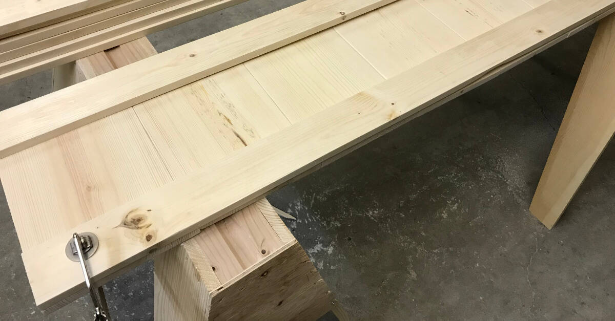 Attaching Trim Pieces to Footboard