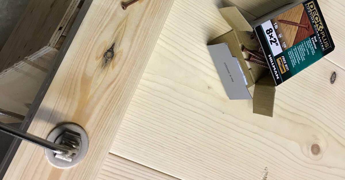 Attaching Trim with Deck Screws