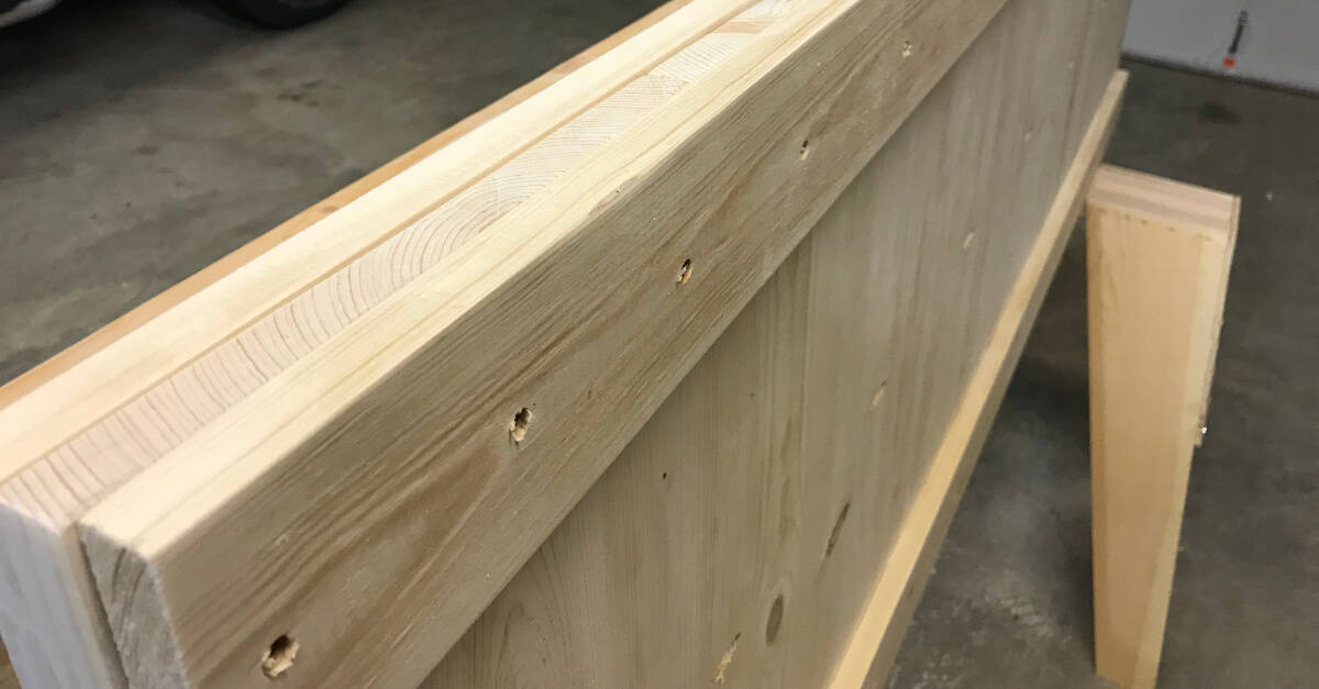 Footboard with Trim Attached