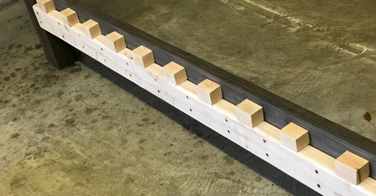 Setting Blocks for Bed Slats