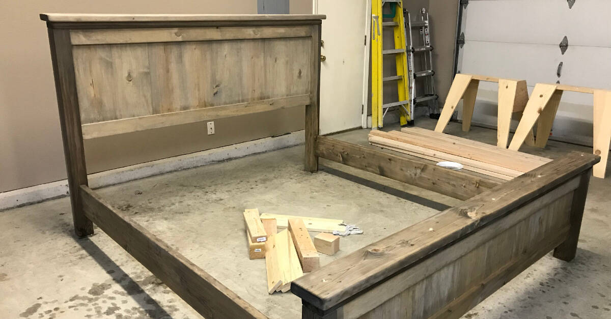Staining Farmhouse Bed