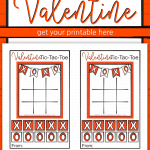 Nothing says Happy Valentine's Day better than a Tic Tac Toe Valentine! It's full of X's and O's and the color of Valentine's Day! Valentine Tic Tac Toe Printable | Valentines Ideas For Kids | Valentine Games | Tic Tac Toe Valentine | #Valentines #SunshineAndRainyDays
