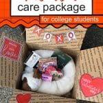 Get yourValentine Care Package For College Students Printables here! Your College Valentine will appreciate the effort you put into making Valentine's Day special for them! Valentine Care Package Ideas   Valentine Care Package College   College Valentine Boxes   College Valentines Day Care Package   College Valentine Ideas   #Valentines #SARD