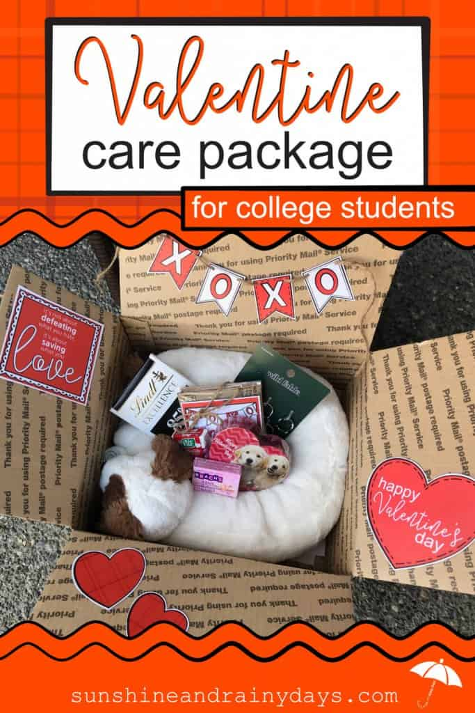 Get yourValentine Care Package For College Students Printables here! Your College Valentine will appreciate the effort you put into making Valentine's Day special for them! Valentine Care Package Ideas | Valentine Care Package College | College Valentine Boxes | College Valentines Day Care Package | College Valentine Ideas | #Valentines #SARD