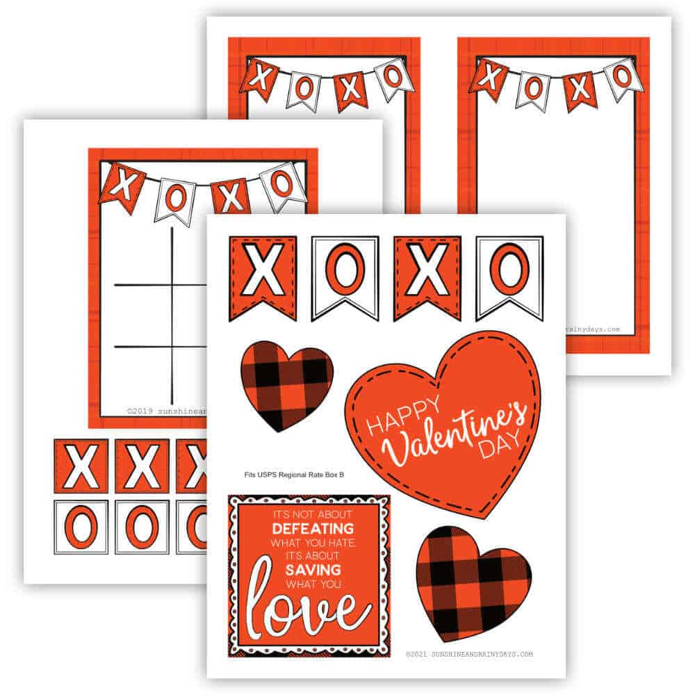 Valentine Care Package Box Decor Printables