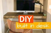 DIY Floating Built In Desk And Shelves