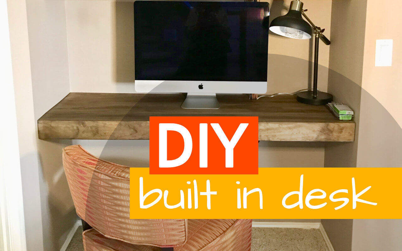 DIY Floating Built In Desk And Shelves F