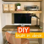 Do you have a nook begging for a Built In Desk? Check out what we did in our own awkward little nook! I'm super excited about this built in desk as it turned out so nice! The space, that was so awkward before, now looks like it was always meant to be.