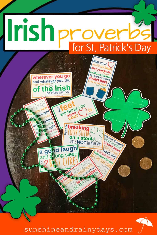 Irish Proverbs Printable