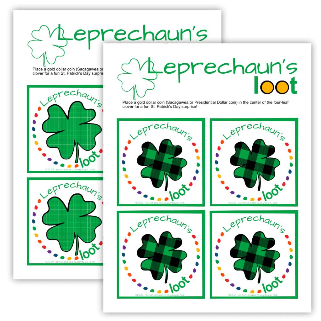 Leprechaun's Loot printable.