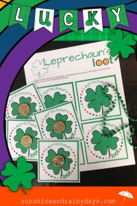 Brighten someone's St. Patrick's Day with a Leprechaun's Loot card! Place a gold dollar coin in the center of the four-leaf clover for a FUN St. Patrick's Day surprise!