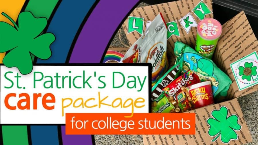 St. Patrick's Day Care Package For College Students