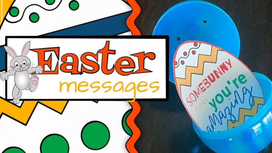 Easter Messages to use for Easter Egg Hunts