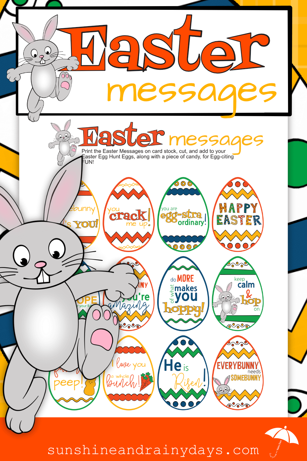 Make your Easter Egg Hunt egg-stra fun with Easter Messages!