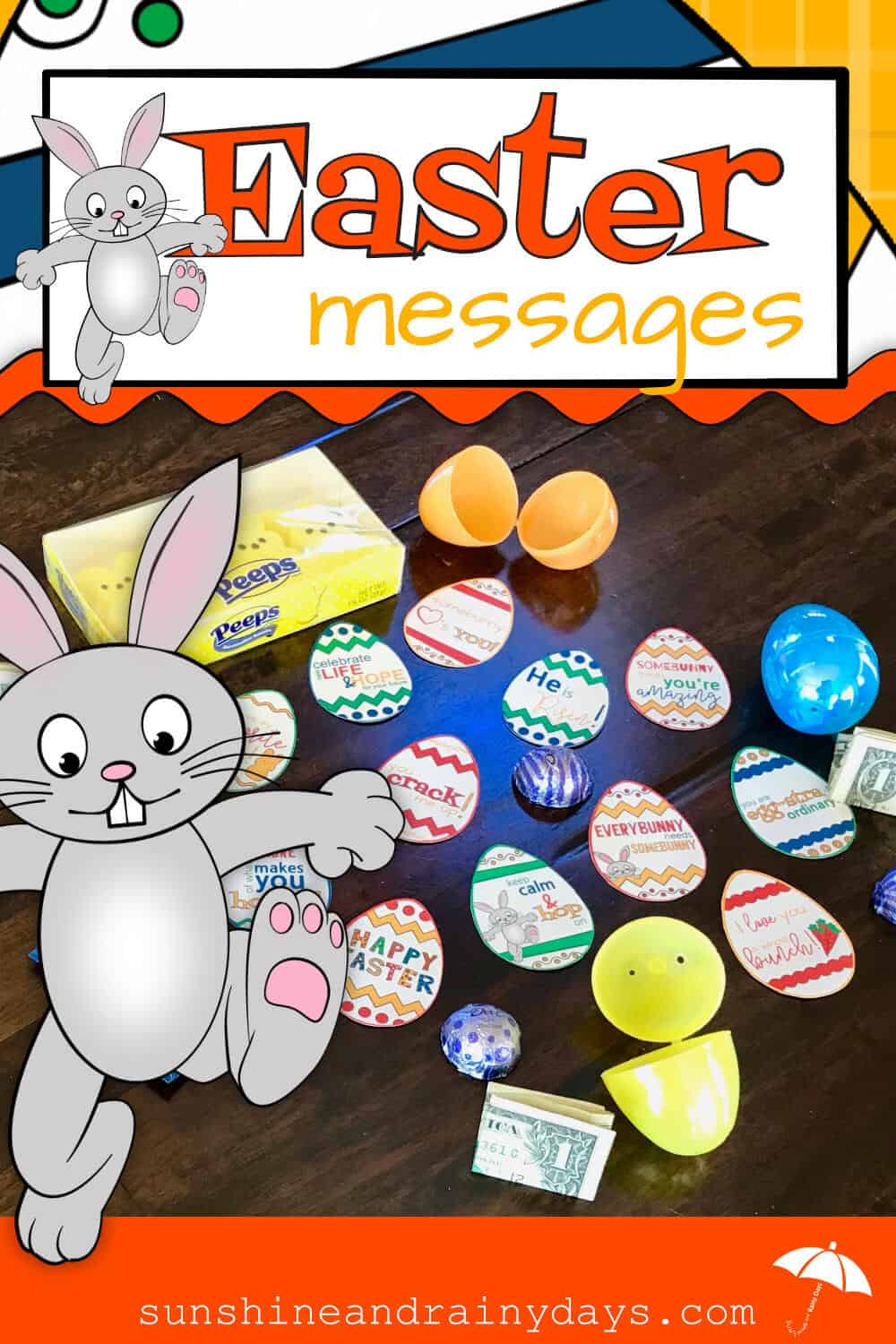 Brighten your Easter Egg Hunt this year with Inspirational And Punny Easter Messages! Easter Egg Hunt | Easter Egg Fillers | Punny Easter | Easter Printable | #easteregg #easteregghunt #SARD