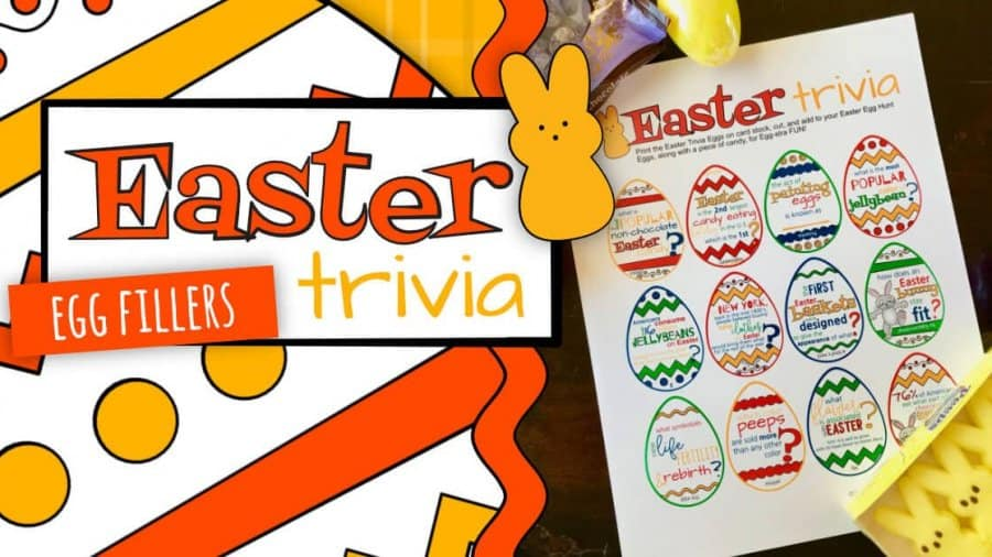 graphic relating to Easter Trivia Printable named Site 3 of 20 -