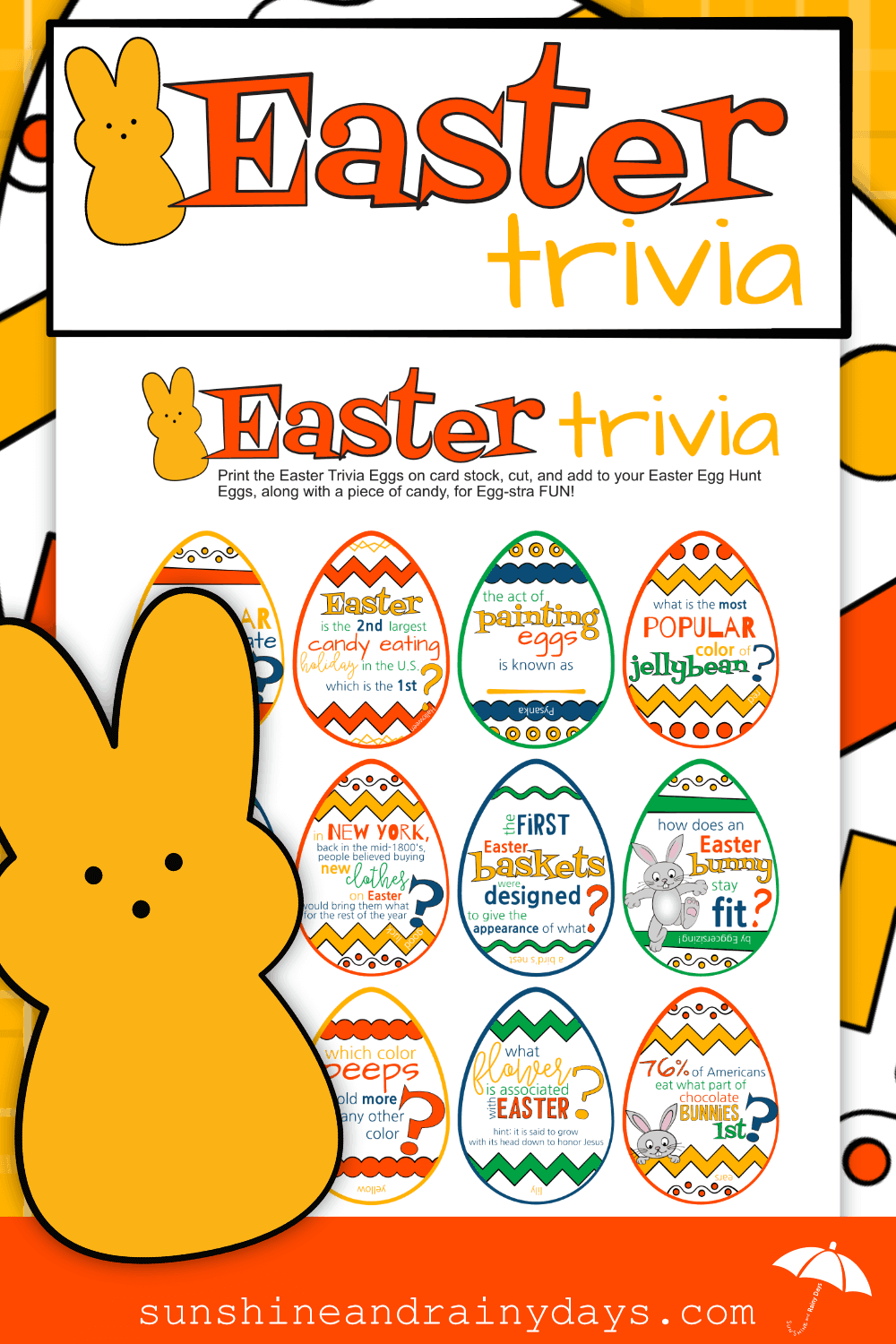 Easter Trivia to put in Easter Egg Hunt Eggs!