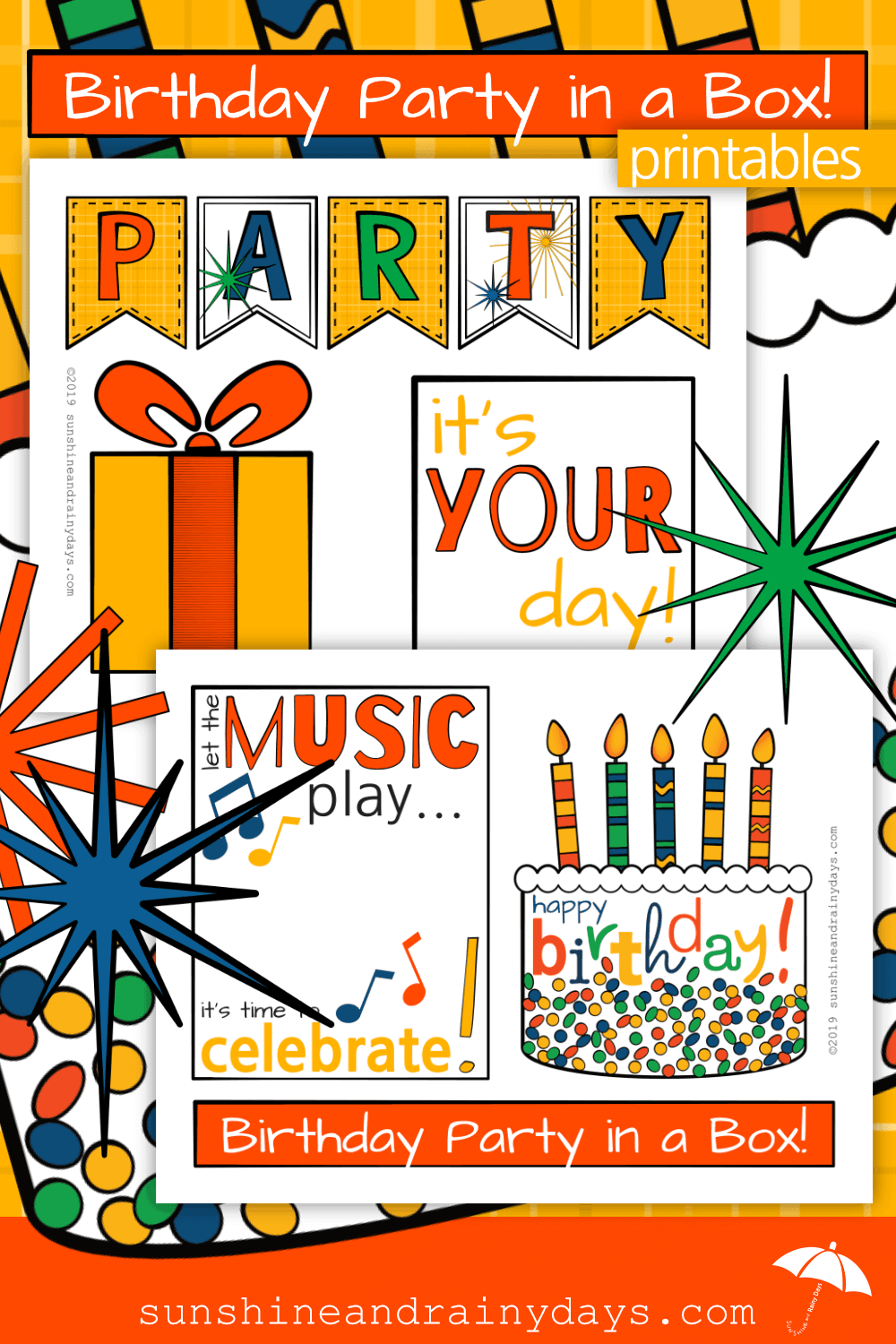 Birthday Party In A Box Printables
